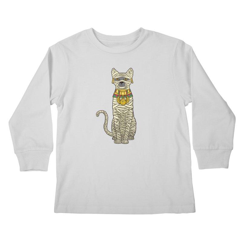 Ancient Cat Return Kids Longsleeve T-Shirt by Fathi