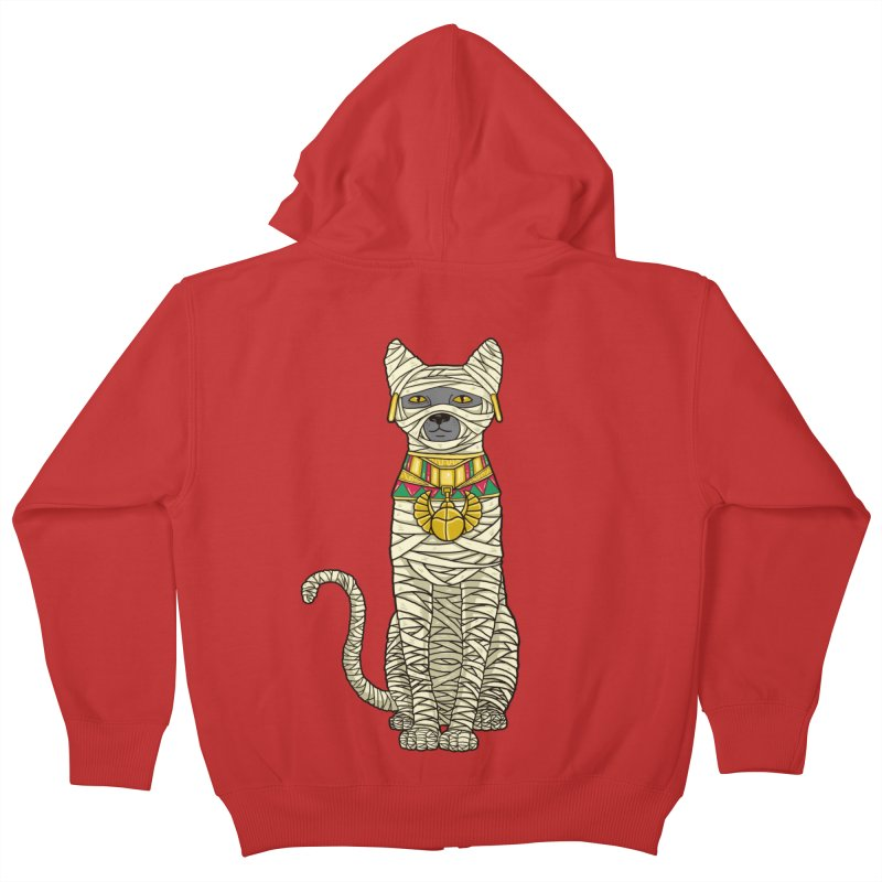 Ancient Cat Return Kids Zip-Up Hoody by Fathi