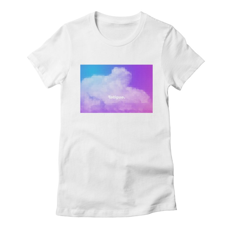 cloudwatching Women's Fitted T-Shirt by Fatigue Streetwear