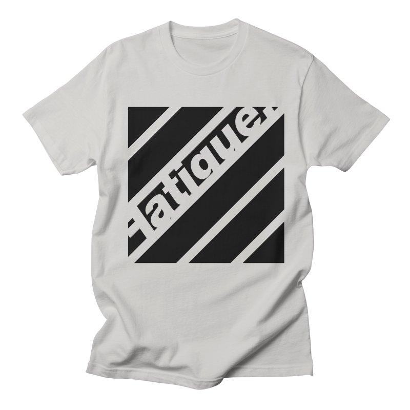 Fatigue Bars- Black Men's T-Shirt by Fatigue Streetwear