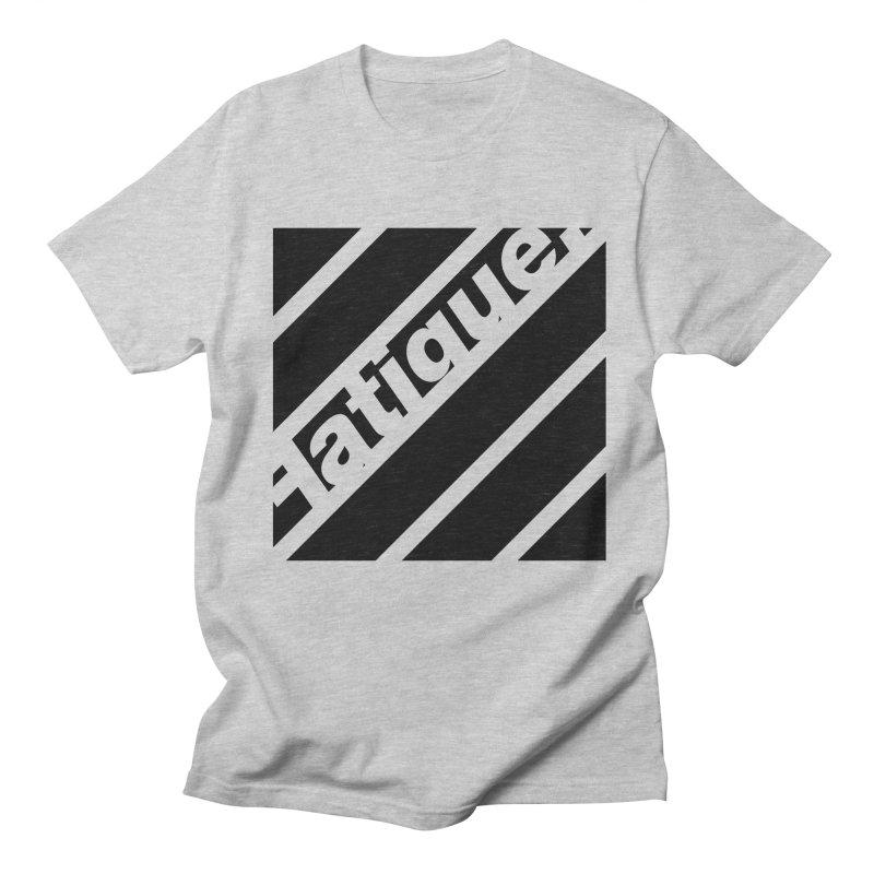 Fatigue Bars- Black Men's Regular T-Shirt by Fatigue Streetwear