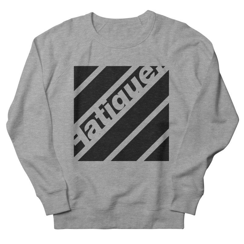 Fatigue Bars- Black Men's French Terry Sweatshirt by Fatigue Streetwear