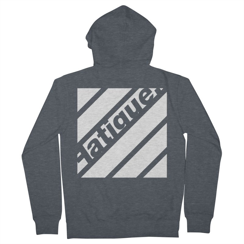 Fatigue Bars- White Men's Zip-Up Hoody by Fatigue Streetwear