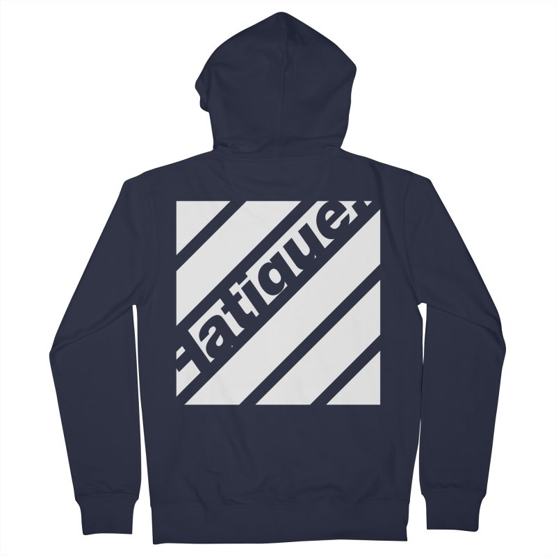 Fatigue Bars- White Men's French Terry Zip-Up Hoody by Fatigue Streetwear