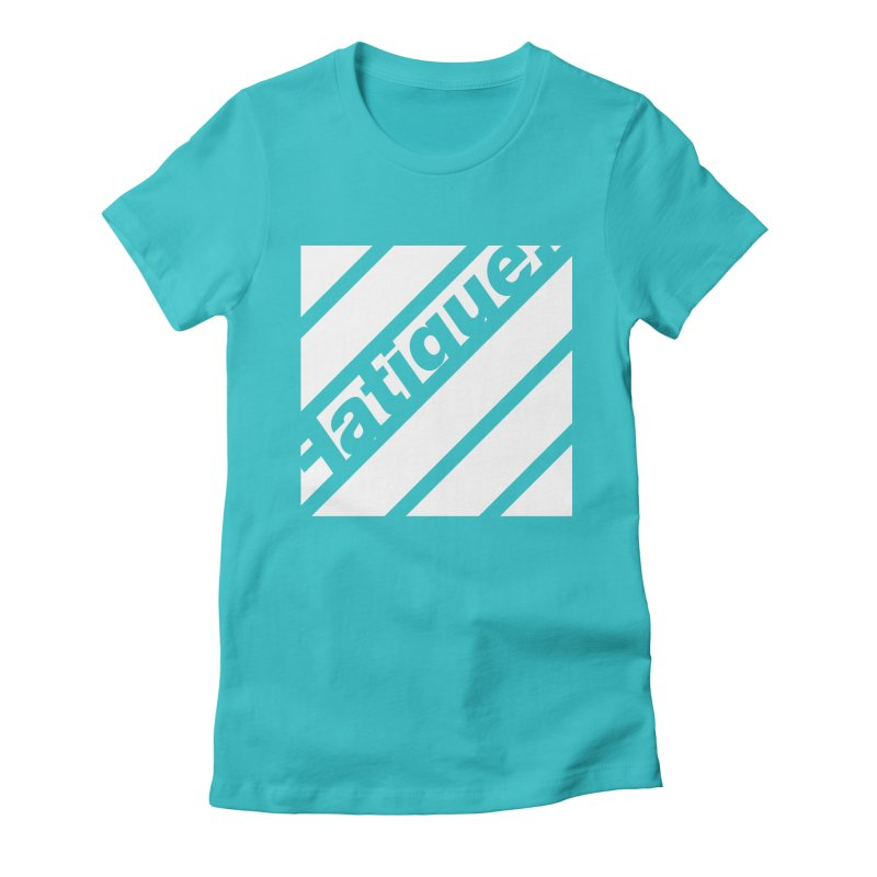 Fatigue Bars- White Women's Fitted T-Shirt by Fatigue Streetwear