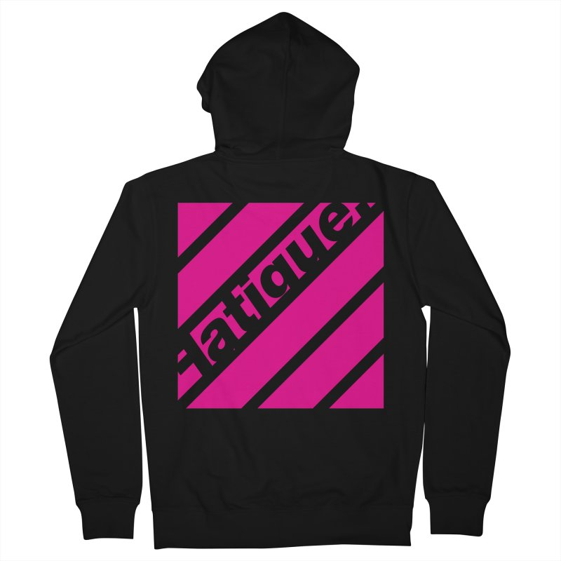 Fatigue Bars- Magenta Men's French Terry Zip-Up Hoody by Fatigue Streetwear