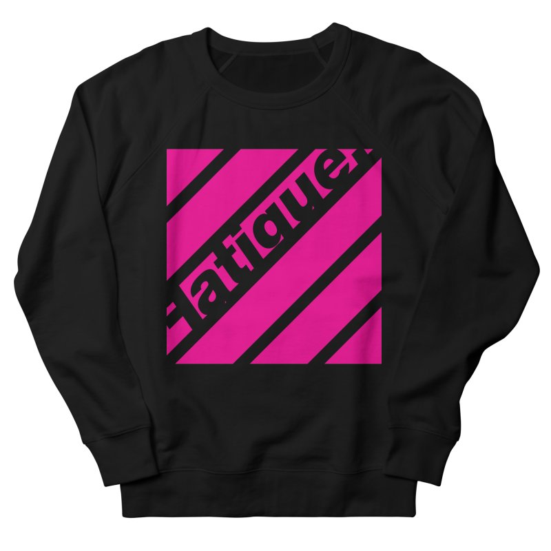 Fatigue Bars- Magenta Men's French Terry Sweatshirt by Fatigue Streetwear