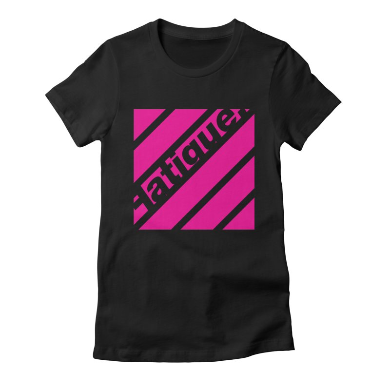 Fatigue Bars- Magenta Women's Fitted T-Shirt by Fatigue Streetwear