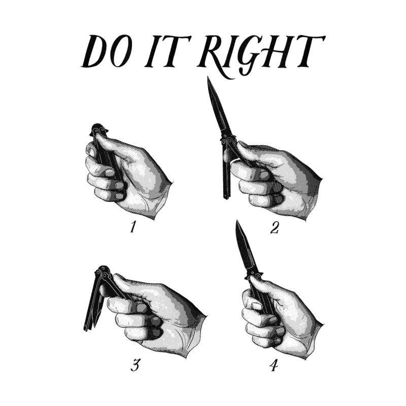 Do It Right Men's T-Shirt by Fat.Max