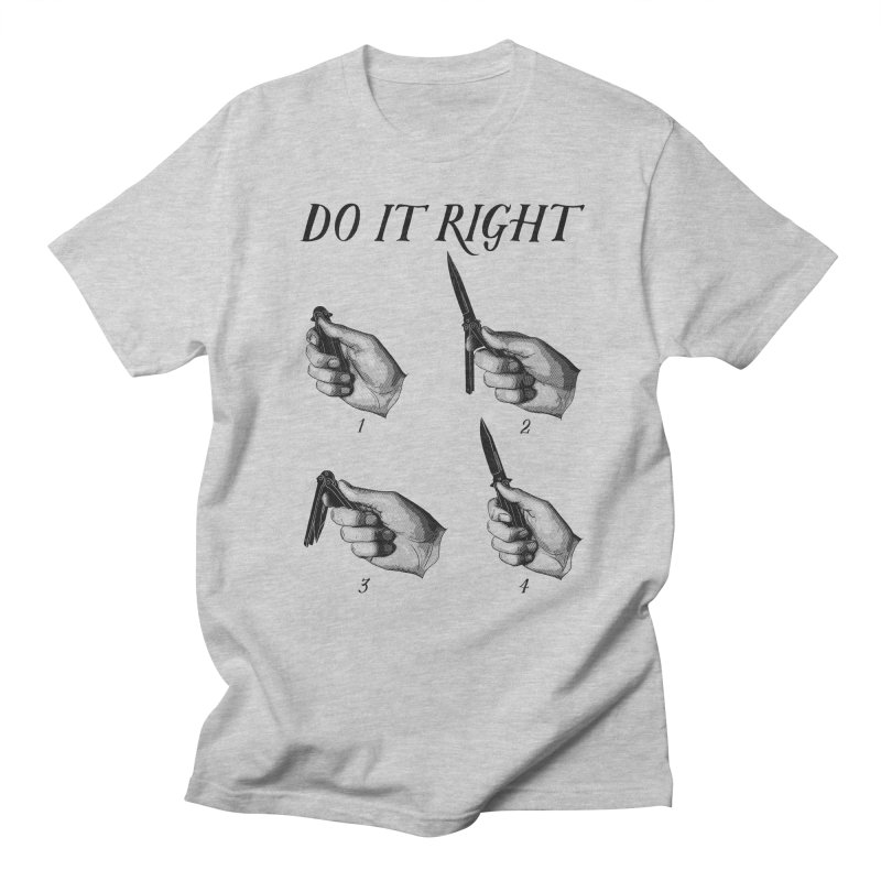 Do It Right Men's Regular T-Shirt by Fat.Max