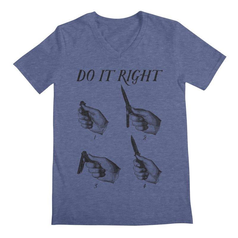 Do It Right Men's Regular V-Neck by Fat.Max