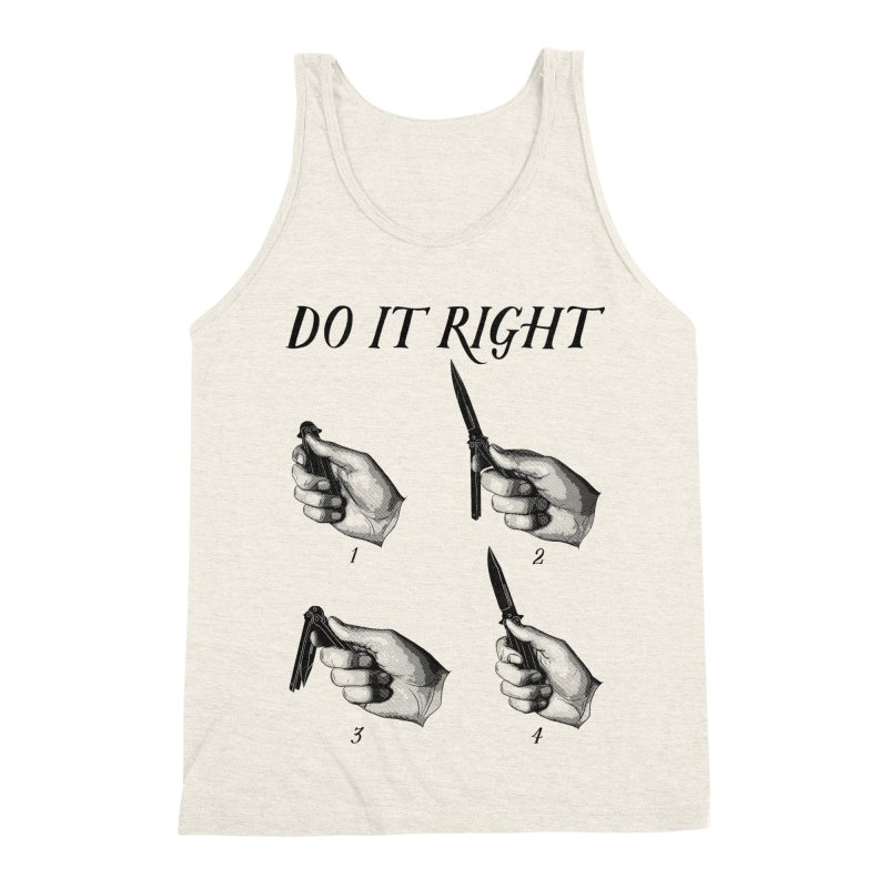 Do It Right Men's Triblend Tank by Fat.Max