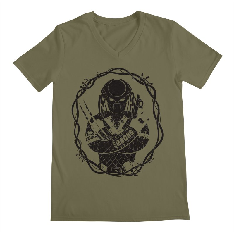 I WANNA ROCK THIS JUNGLE! Men's Regular V-Neck by Fat.Max