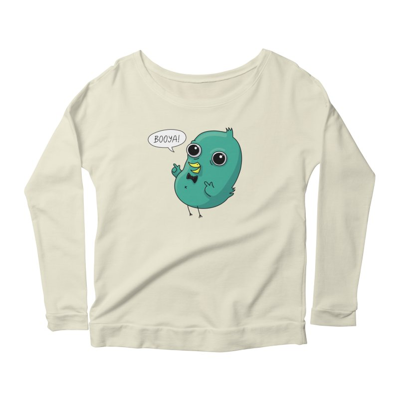 BOOYA! Women's Longsleeve Scoopneck  by Fat.Max