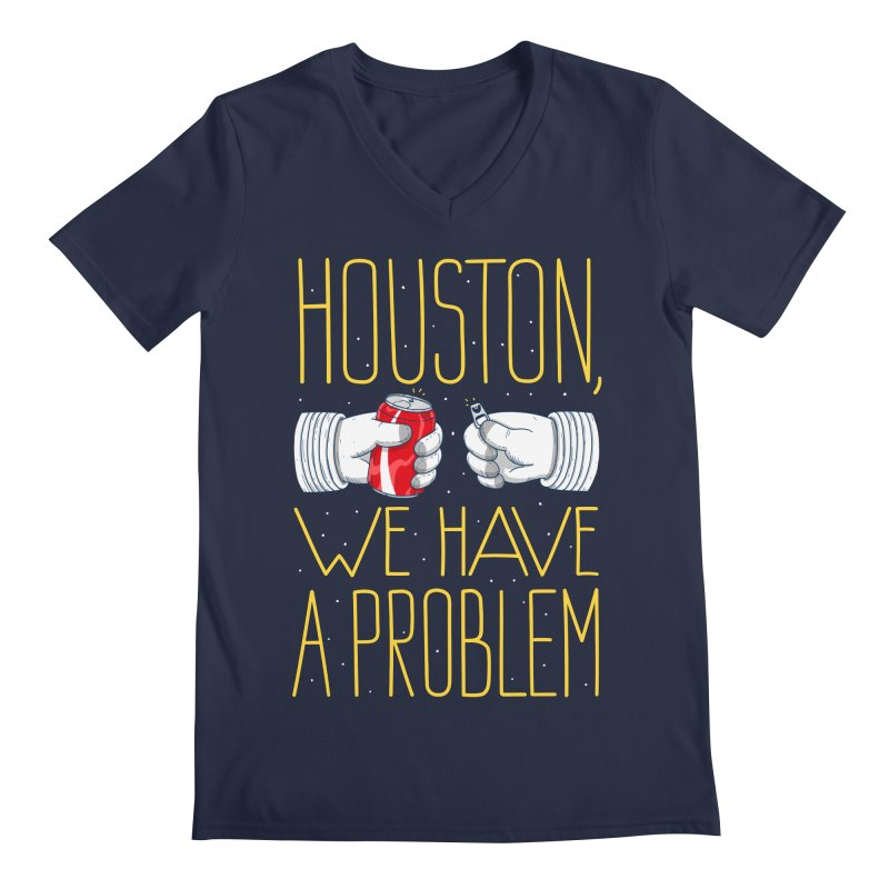 HOUSTON, WE HAVE A PROBLEM Men's Regular V-Neck by Fat.Max