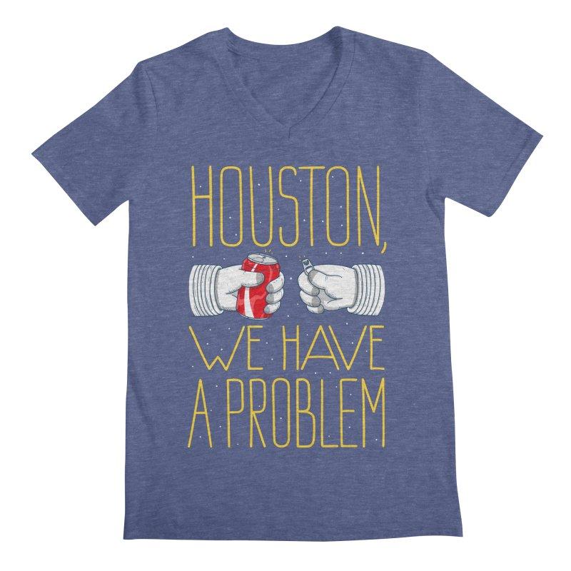 HOUSTON, WE HAVE A PROBLEM Men's Regular V-Neck by Fat.Max