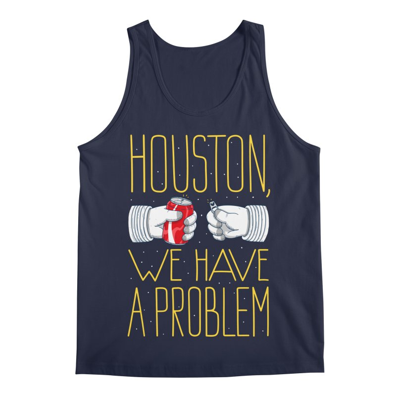 HOUSTON, WE HAVE A PROBLEM Men's Regular Tank by Fat.Max