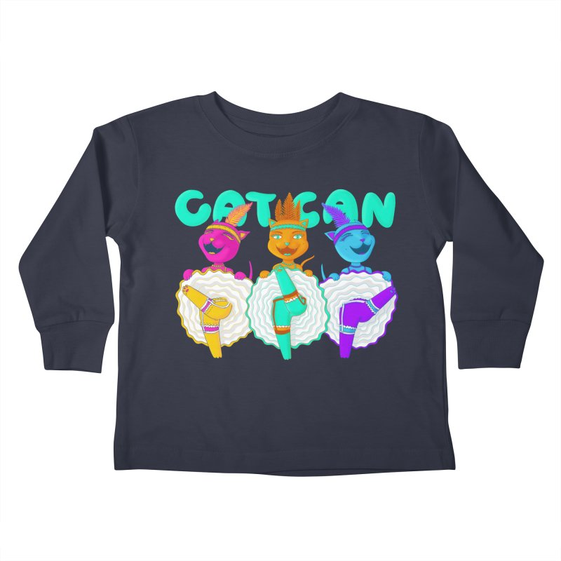 CATCAN Kids Toddler Longsleeve T-Shirt by Fat.Max