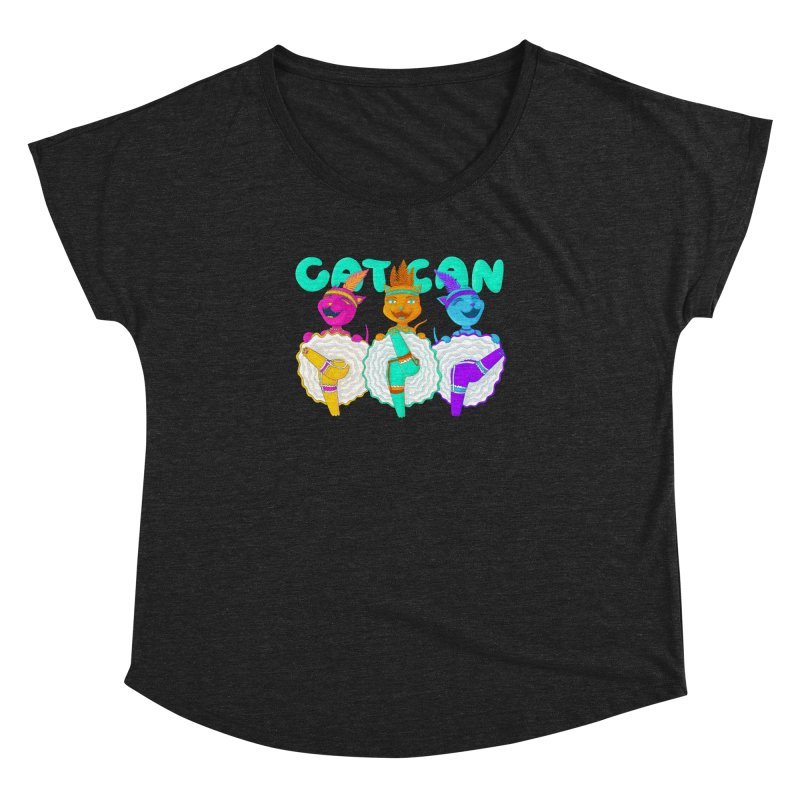 CATCAN Women's Dolman Scoop Neck by Fat.Max