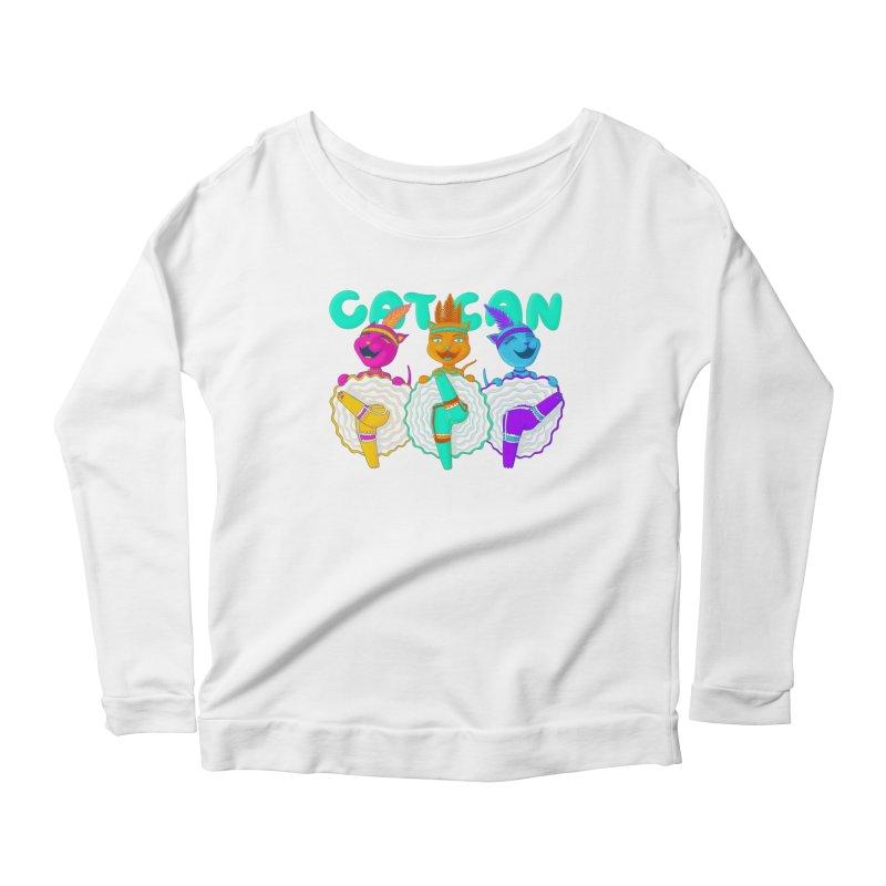 CATCAN Women's Scoop Neck Longsleeve T-Shirt by Fat.Max