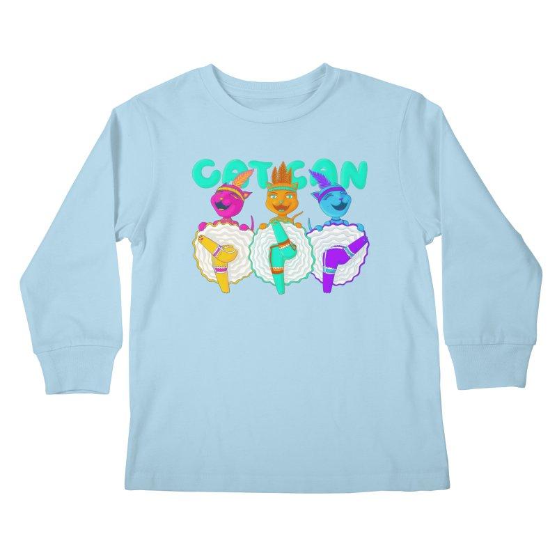 CATCAN Kids Longsleeve T-Shirt by Fat.Max