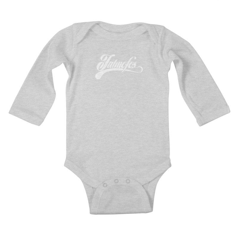 Fatmofos Classic Dark T-Shirt Kids Baby Longsleeve Bodysuit by Fatmofos
