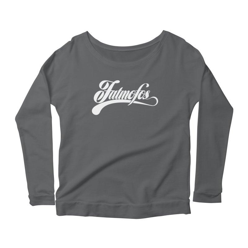 Fatmofos Classic Dark T-Shirt Women's Longsleeve Scoopneck  by Fatmofos