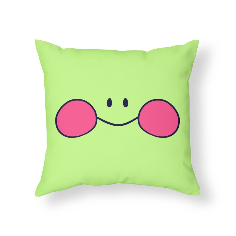 frogface Home Throw Pillow by CoolStore