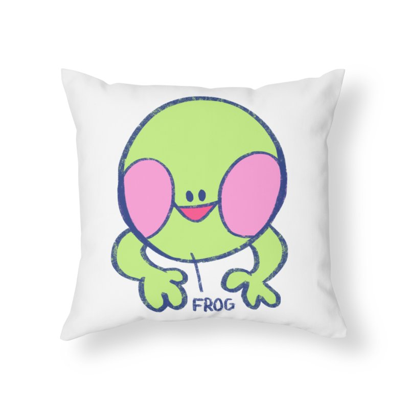 that sure is a frog Home Throw Pillow by CoolStore