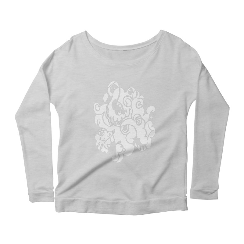 Doodle of the day I Women's Scoop Neck Longsleeve T-Shirt by Favati