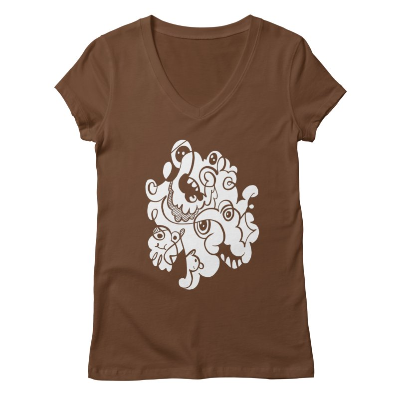 Doodle of the day I Women's Regular V-Neck by Favati