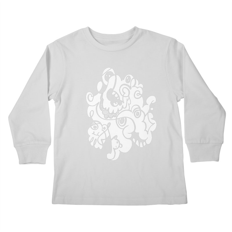 Doodle of the day I Kids Longsleeve T-Shirt by Favati