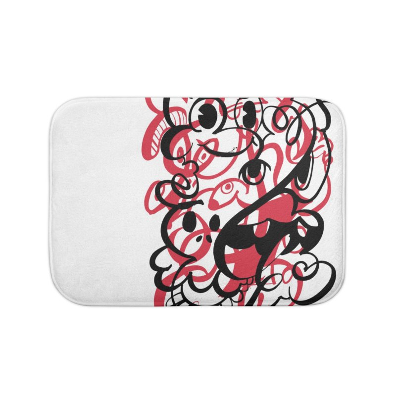 Doodle of the day II – red version Home Bath Mat by Favati