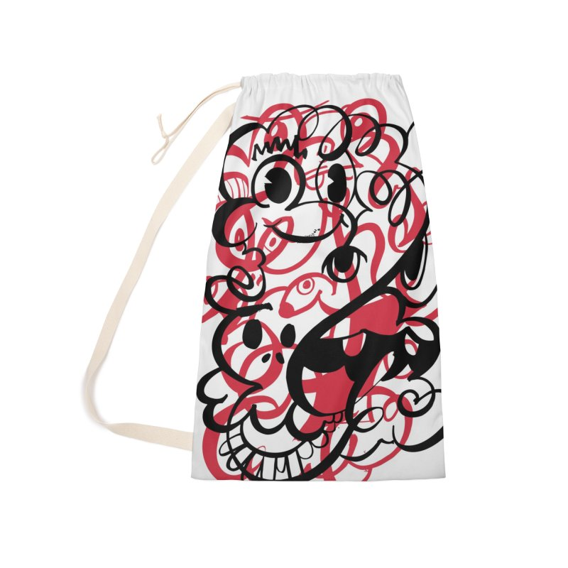 Doodle of the day II – red version Accessories Laundry Bag Bag by Favati