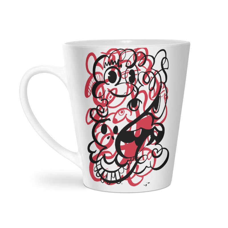 Doodle of the day II – red version Accessories Latte Mug by Favati