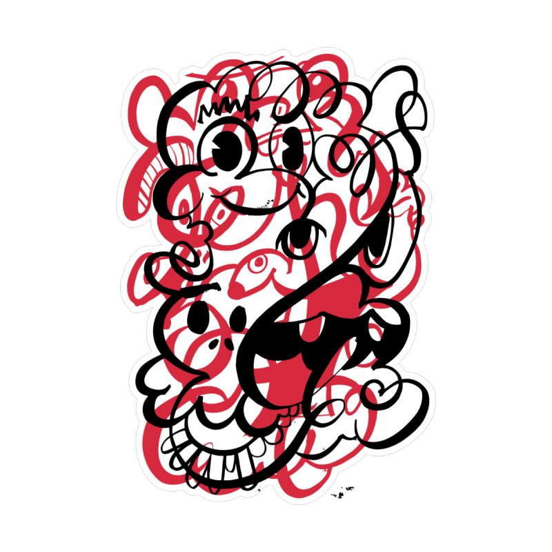 Doodle of the day II – red version by Favati