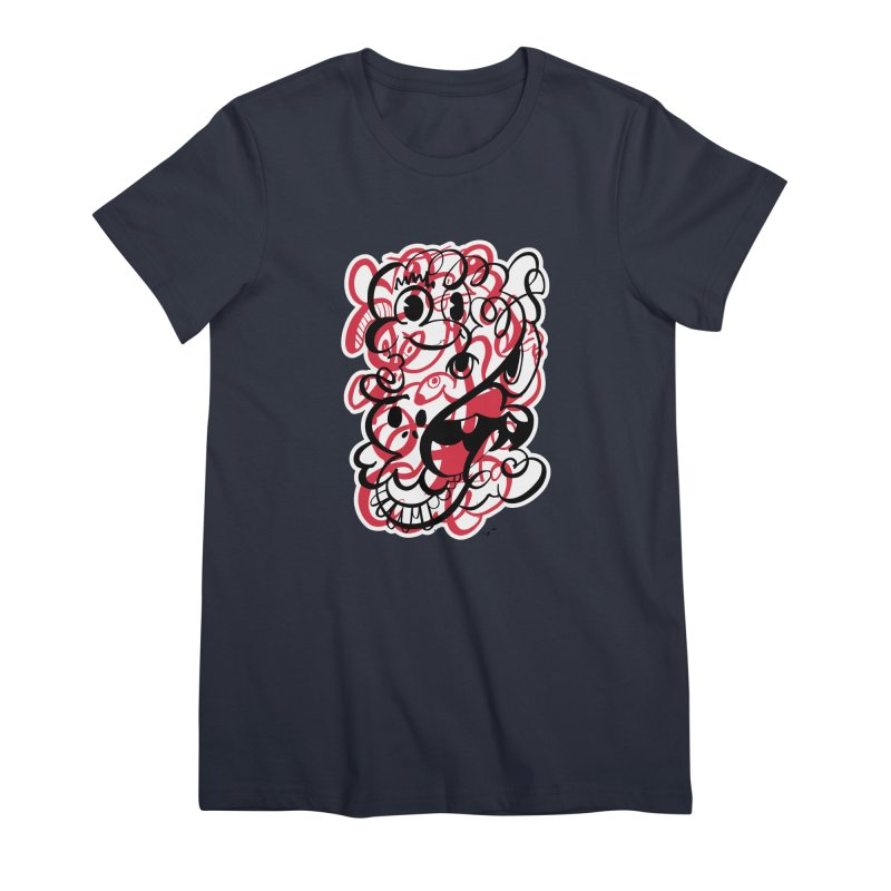 Doodle of the day II – red version Women's Premium T-Shirt by Favati