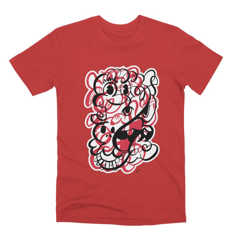 Doodle of the day II – red version Men's Premium T-Shirt by Favati