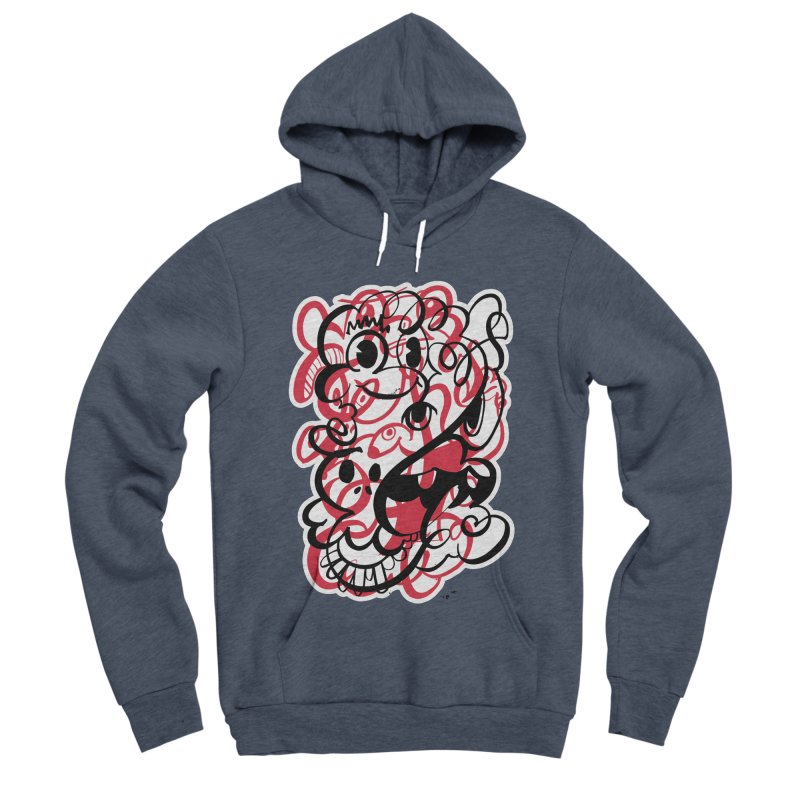Doodle of the day II – red version Women's Sponge Fleece Pullover Hoody by Favati
