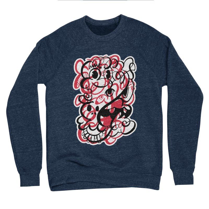Doodle of the day II – red version Men's Sponge Fleece Sweatshirt by Favati