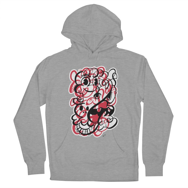 Doodle of the day II – red version Women's French Terry Pullover Hoody by Favati