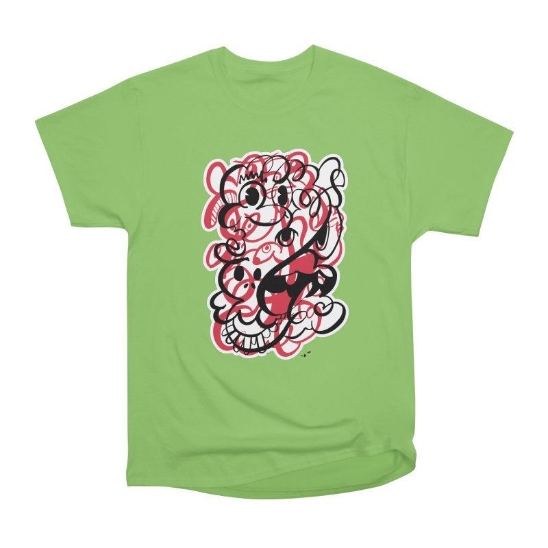 Doodle of the day II – red version Men's Heavyweight T-Shirt by Favati