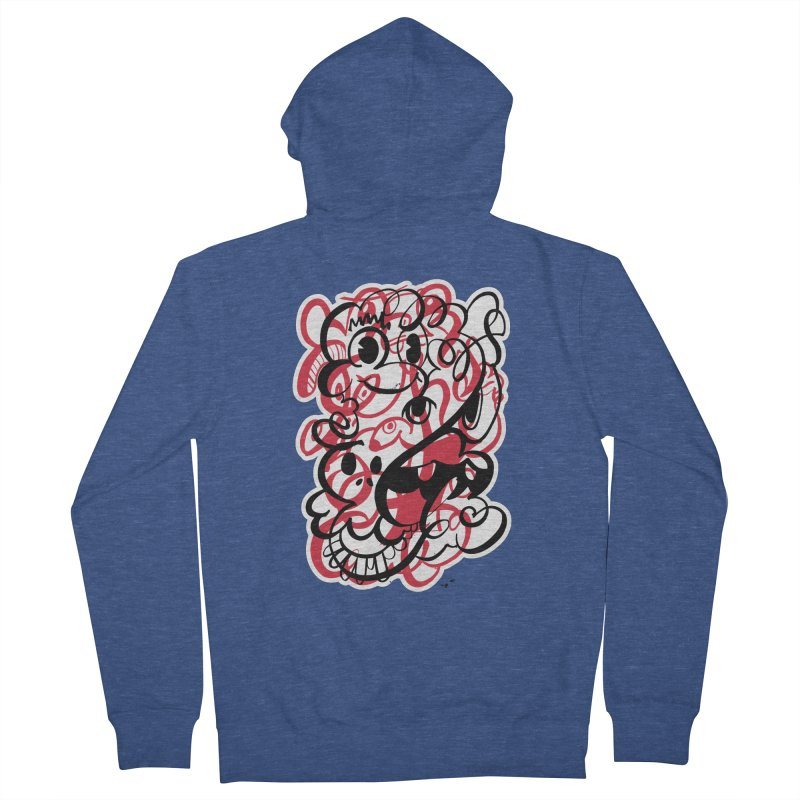 Doodle of the day II – red version Women's Zip-Up Hoody by Favati