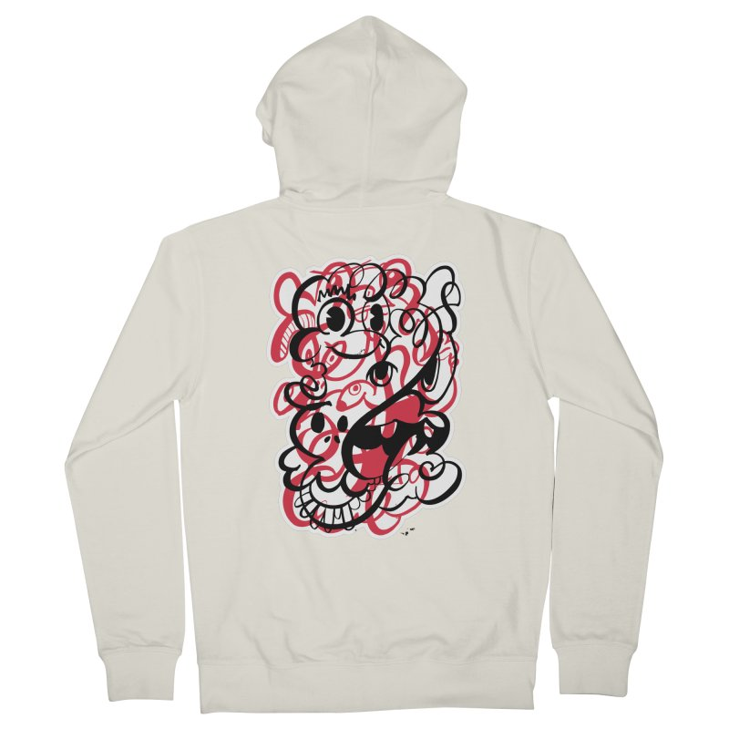 Doodle of the day II – red version Women's French Terry Zip-Up Hoody by Favati