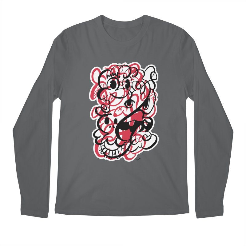Doodle of the day II – red version Men's Regular Longsleeve T-Shirt by Favati