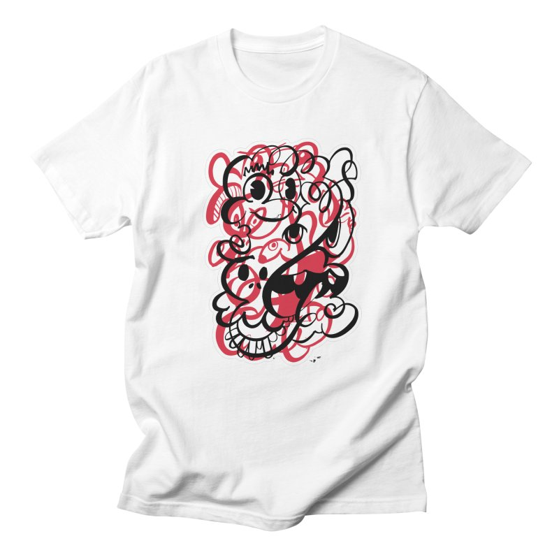 Doodle of the day II – red version in Men's Regular T-Shirt White by Favati