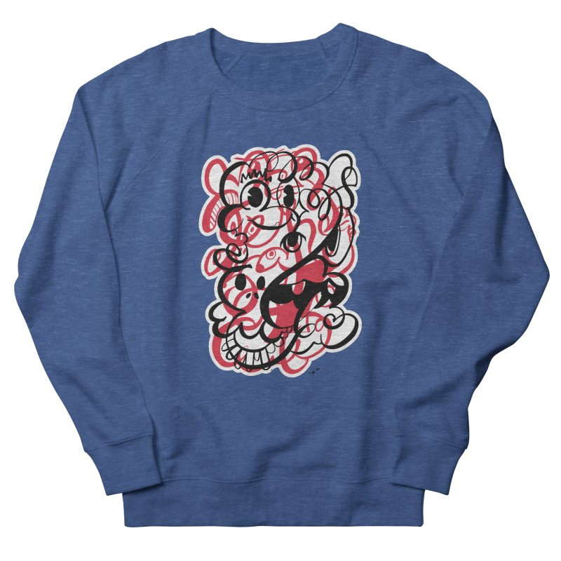 Doodle of the day II – red version Women's French Terry Sweatshirt by Favati