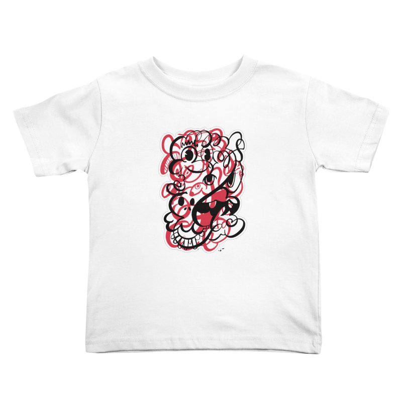 Doodle of the day II – red version Kids Toddler T-Shirt by Favati
