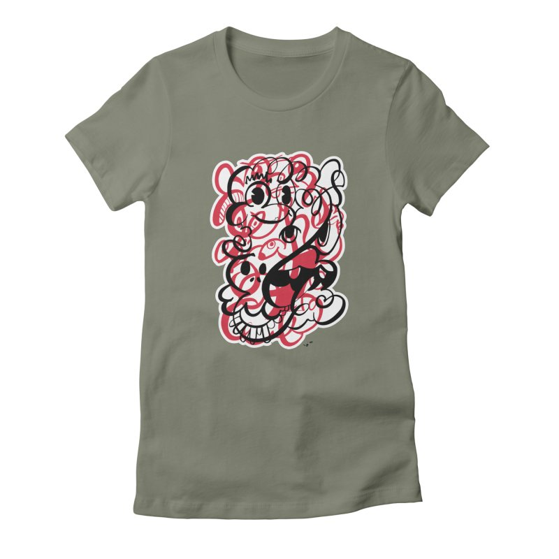 Doodle of the day II – red version Women's T-Shirt by Favati
