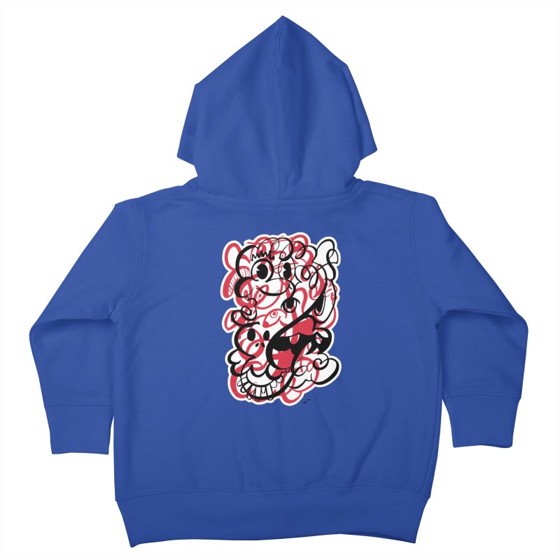 Doodle of the day II – red version Kids Toddler Zip-Up Hoody by Favati